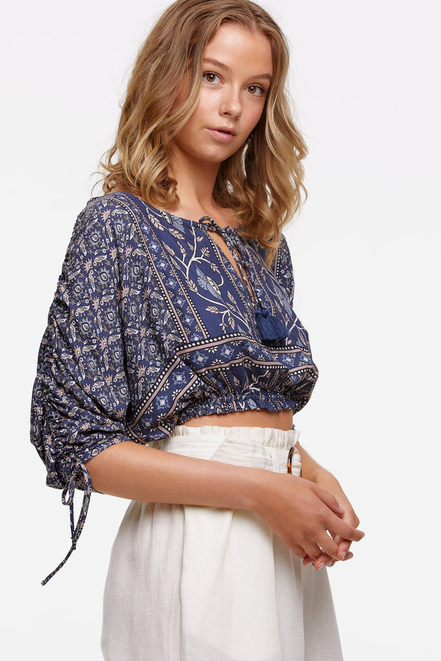 Tigerlily Samara Isabella Top - Dusk | Shop Tigerlily at IKON NZ