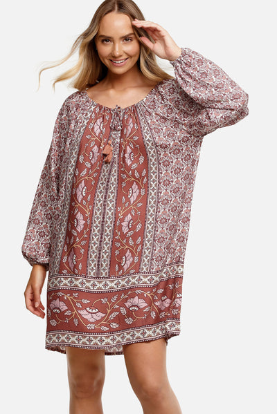 Tigerlily Samara Arlo Tunic - Rose | Shop Tigerlily at IKON NZ