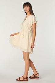Tigerlily La Camella Tabita Mini Dress - Whisper White