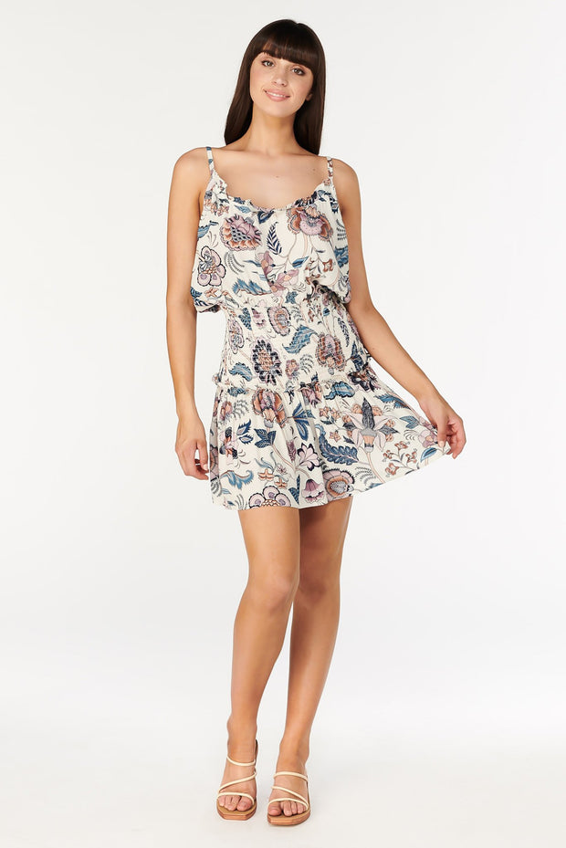 Tigerlily Isola Emmie Shirred Mini Dress | Shop Tigerlily at IKON NZ