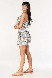 Tigerlily Isola Emmie Shirred Mini Dress - Pearl