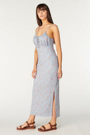 Tigerlily Aurora Hazel Midi Dress - Dusty Blue
