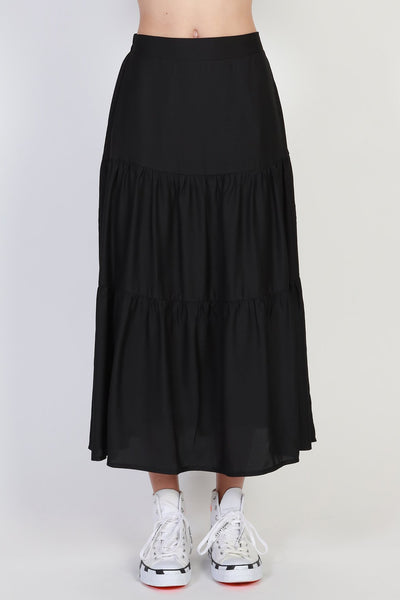 Tier Skirt - Black | Shop online at IKON, Arrowtown NZ