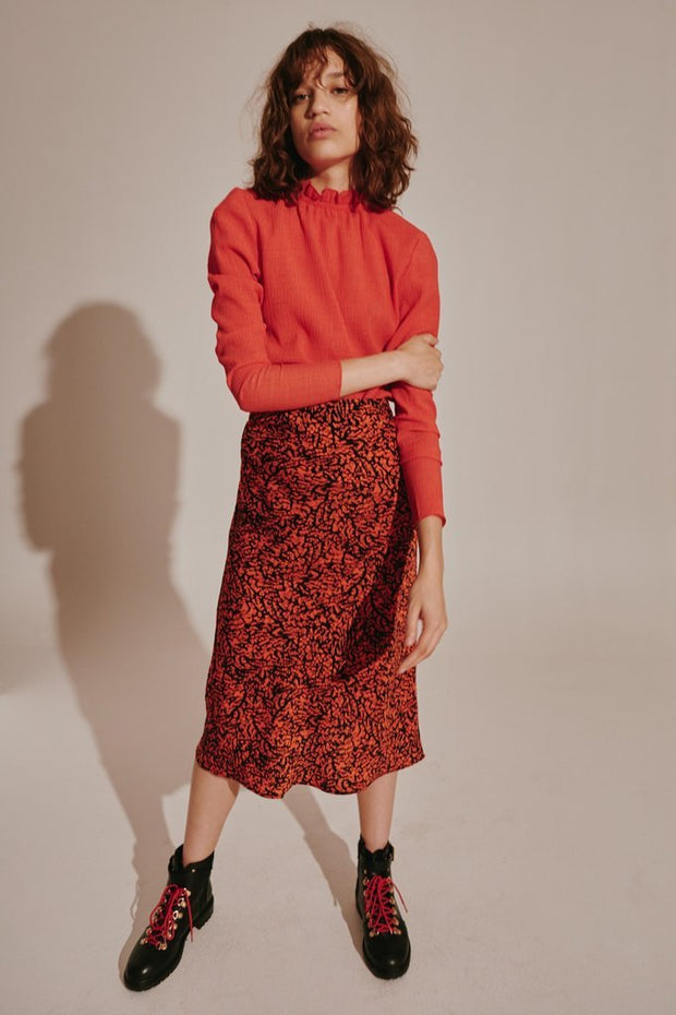 Trio Skirt Red/Black Snake | shop The Fifth Label at IKON, Arrowtown, NZ