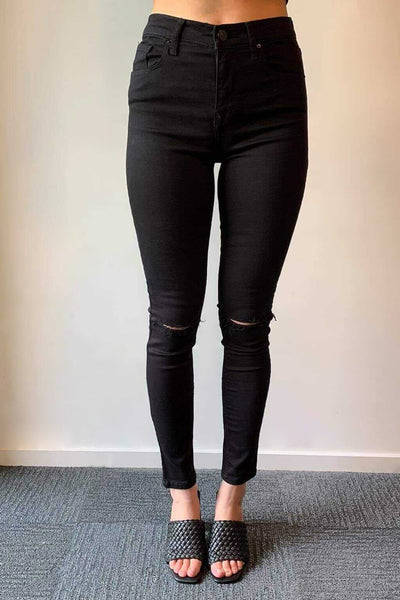 LTB Tanya X - Destroyed Black | Shop LTB Jeans at IKON