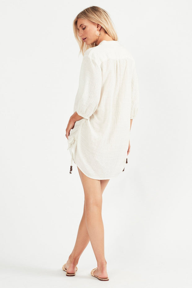 Tigerlily Marsi Shirt Dress - Blanc
