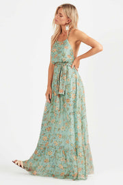 Tigerlily Persi Silk Maxi Dress - Jade