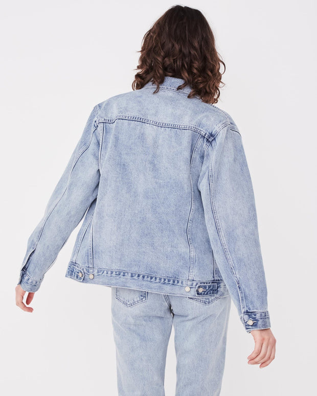 Womens Tome Denim Jacket - Stone Blue