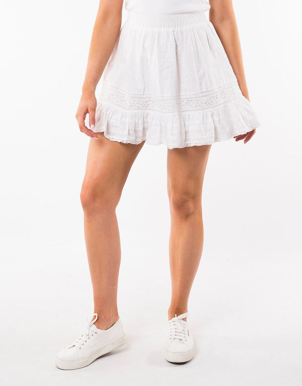 Fancy Panel Skirt - White