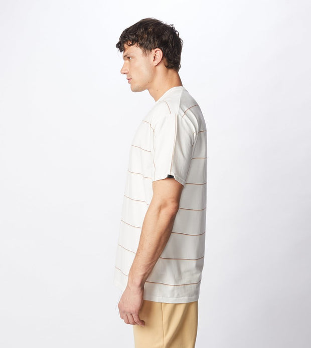 Tri-Stripe Box Tee - Milk/Mango