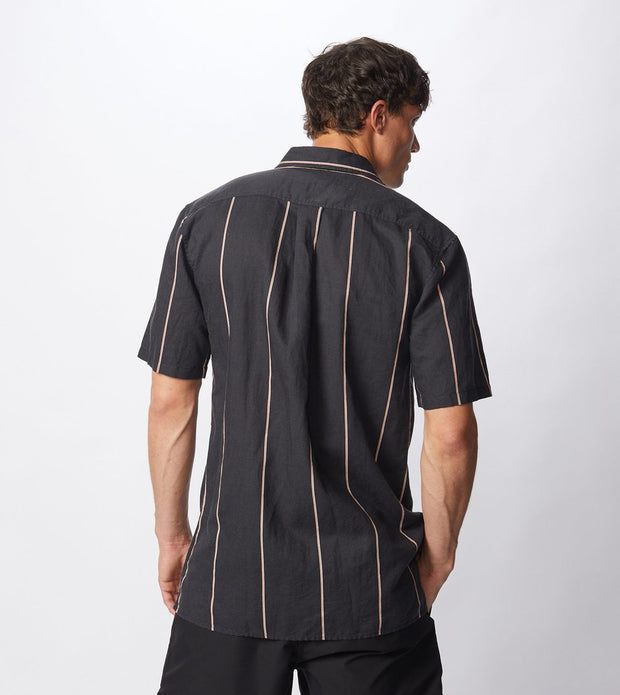 Tri-Stripe S/S Shirt - Black/Mango