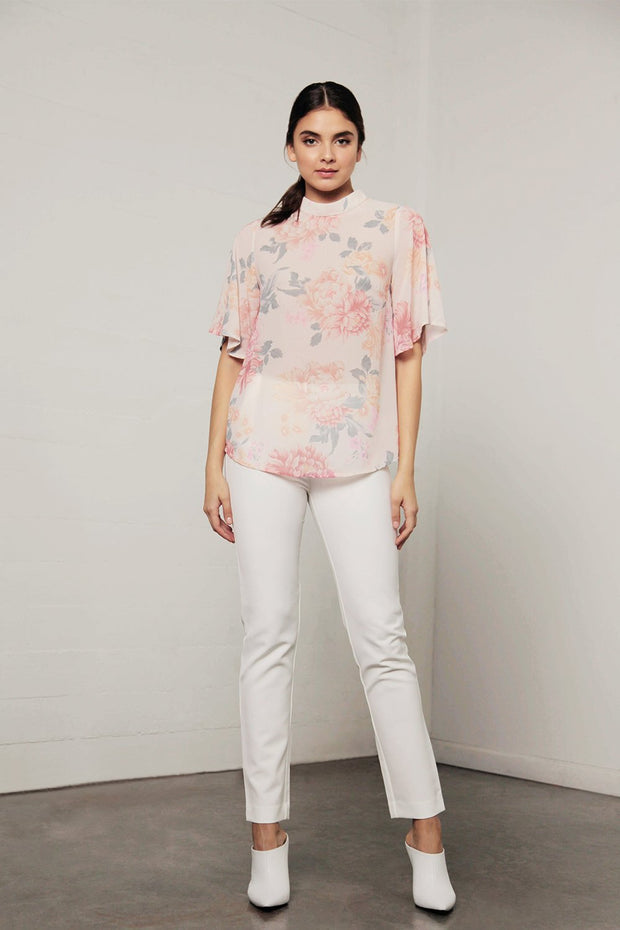 Utopia Peach Flora Top - Peach Floral