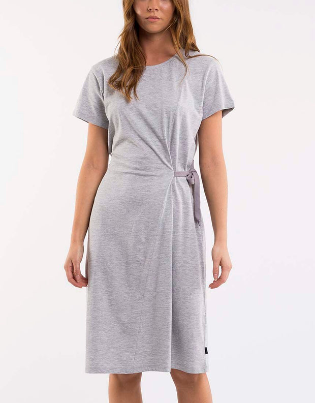 Wrap Up Dress Grey Marle