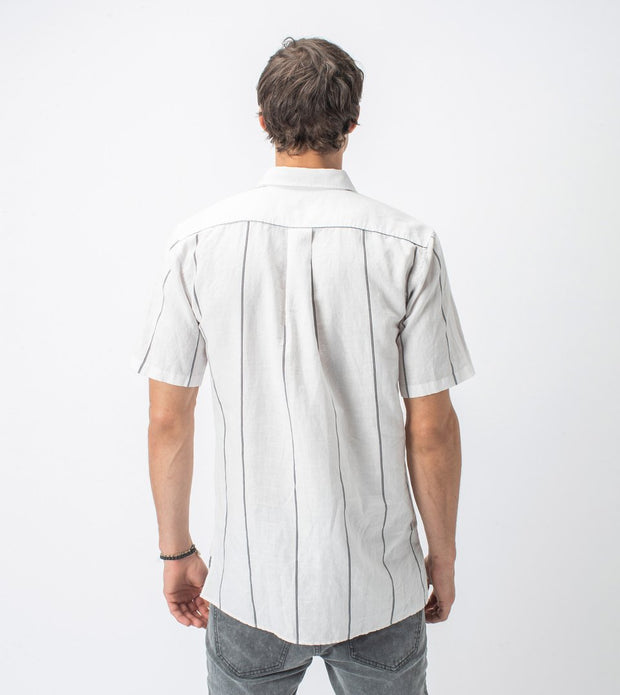Vice Short Sleeve Shirt - Milk/Black