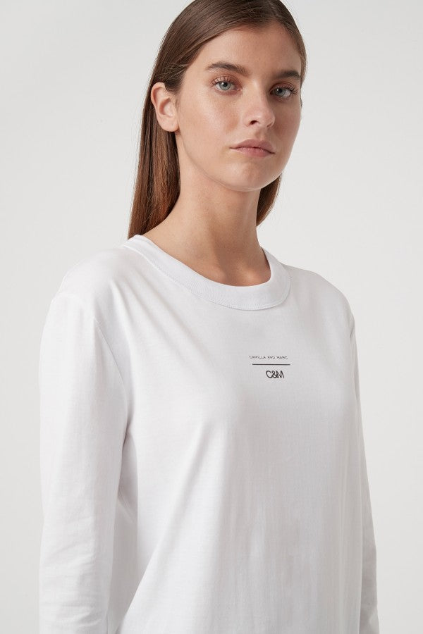 C&M Agnes LS Tee White | Shop C&M Camilla and Marc at IKON NZ