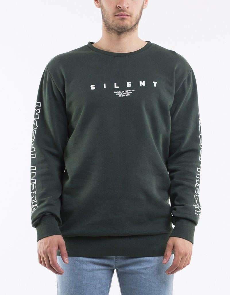 Mens Wax Crew Bottle Green | Silent Theory at IKON in Arrowtown NZ