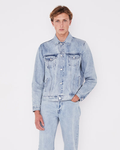 Mens Renton Denim Jacket Stone Blue | Shop Assembly Label at IKON
