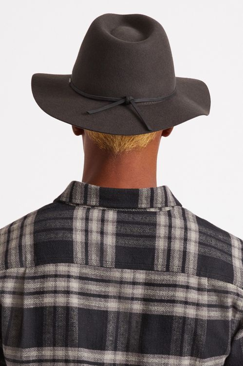 Brixton Wesley Packable Fedora - Washed Black