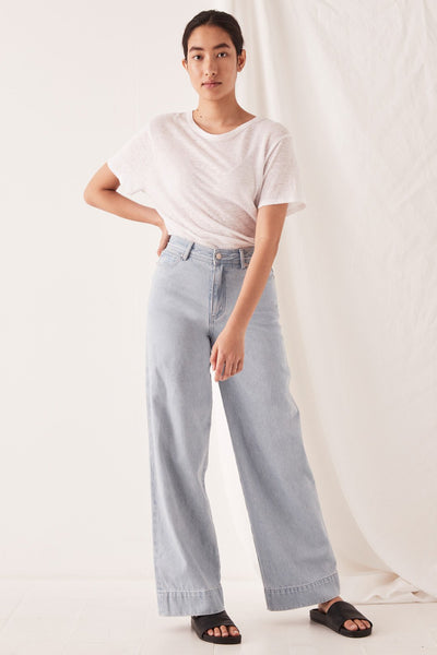 Wide Leg Jean - Pacific Blue | Shop Assembly Label at IKON