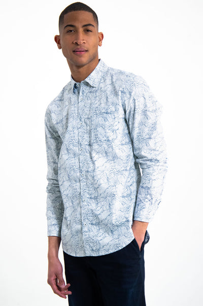 Mens Long Sleeve Shirt White | Shop Garcia Online & Instore at IKON NZ