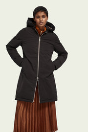 Padded Water-Repellent Parka - Black | Shop Maison Scotch at IKON