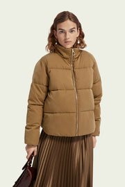Soft Quilted Puffer Jacket - Military Green | Shop Maison Scotch at IKON
