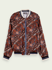 Printed Reversible Bomber - Floral/Stripe
