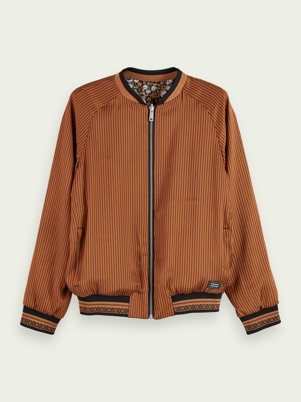 Printed Reversible Bomber Jacket | Shop Maison Scotch at IKON
