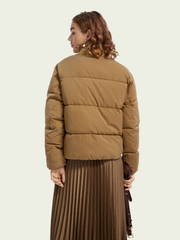 Soft Quilted Puffer Jacket - Military Green