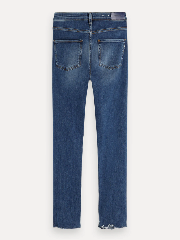 Womens Haut Cropped Jean - Blue Treasure Denim