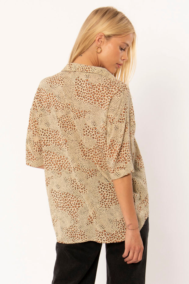 Wildcat SS Woven Blouse - Natural