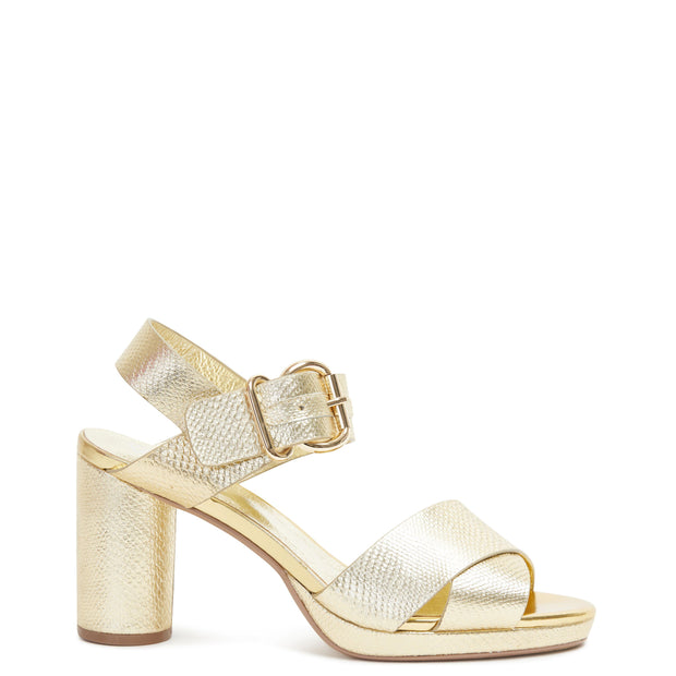 Ginger Heel Gold Snake | Shop Miss Wilson Online at IKON Arrowtown NZ