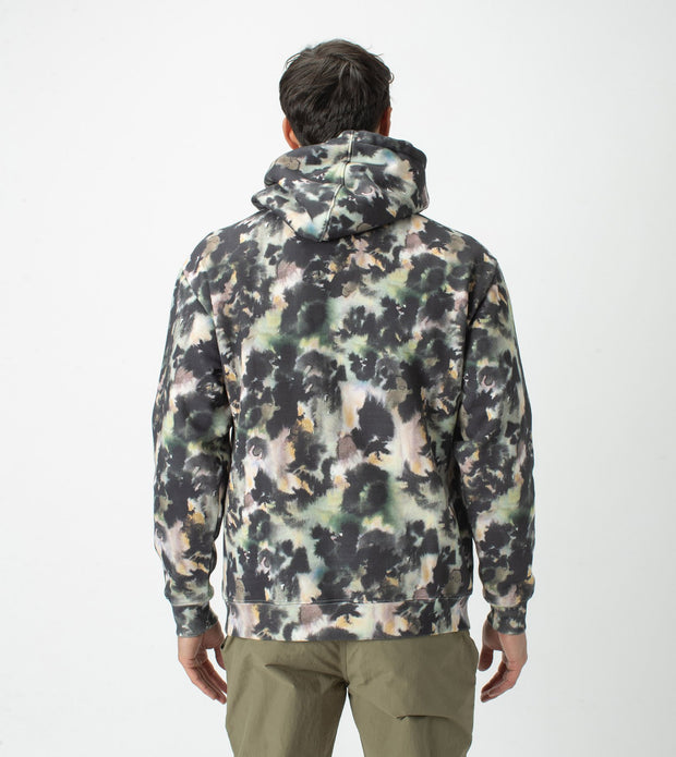 Foliage Hood Sweat - Moss Multi