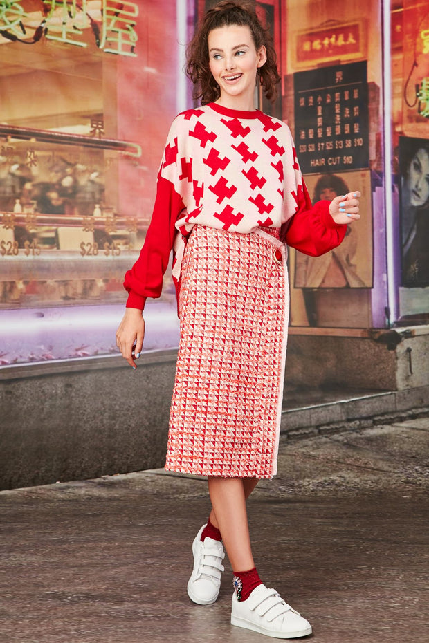 Cooper Check This Out Top - Pink/Red/Multi