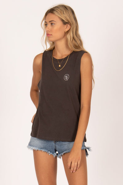 Amuse Artisan Muscle Tee - Charcoal | shop Amuse Society at IKON, Arrowtown, NZ