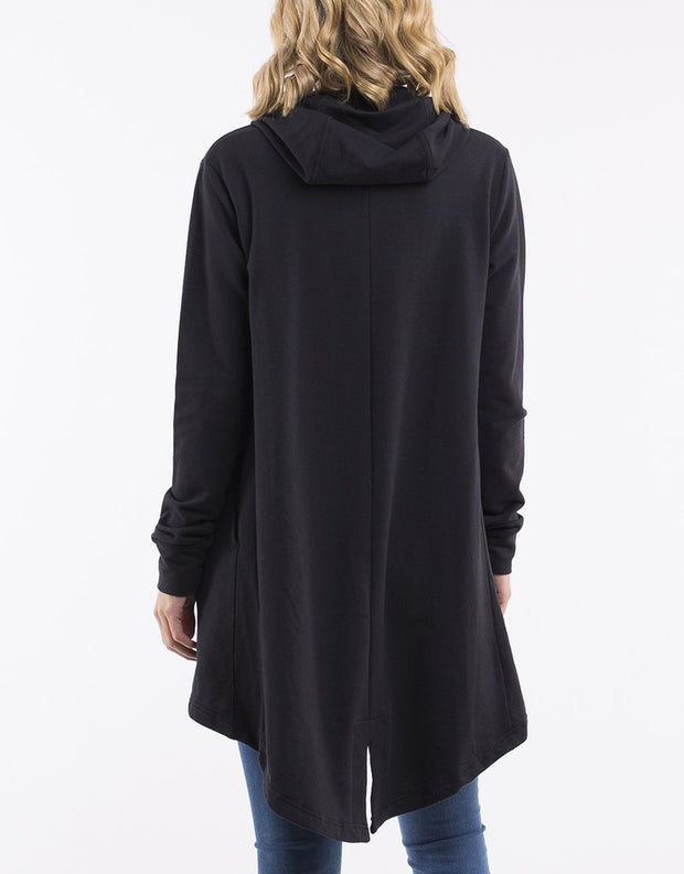 Ashleigh Hooded Cardigan - Black | Shop Silent Theory at IKON NZ