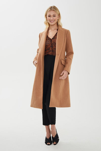 Ashley Single Breasted Coat Camel | Shop Cooper St at IKON NZ