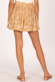 Coconut Kiss Mini Woven Skirt - Latte