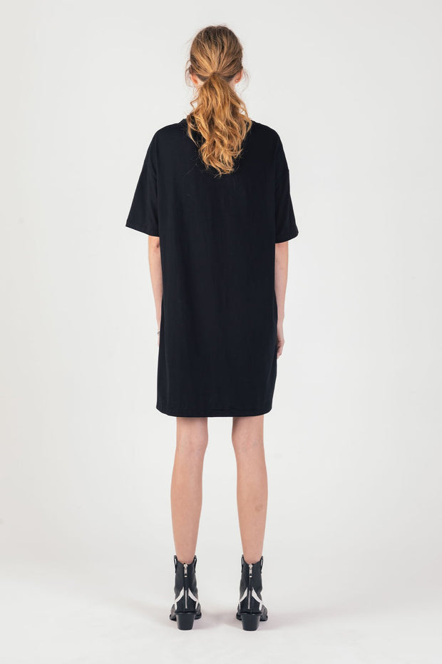 Serpent Tee Dress - Washed Black