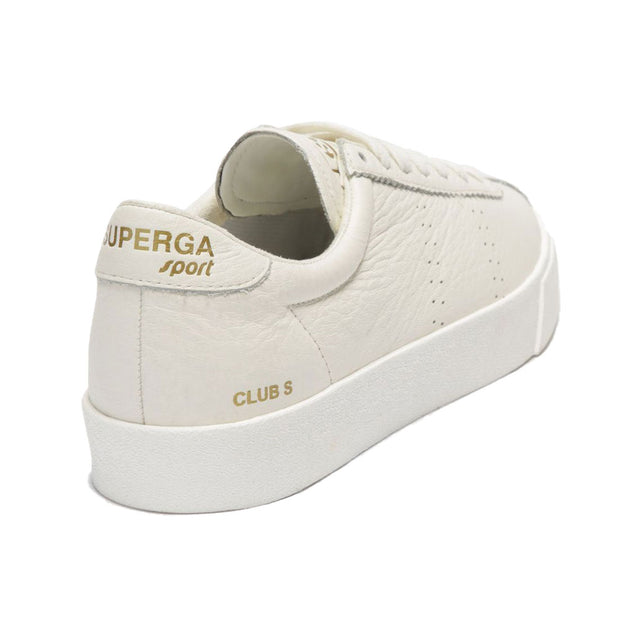 Superga 2843 Clubs Tumbled Leatheru - White Cloud