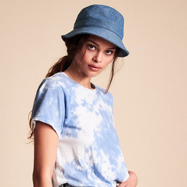 Brixton Bank II Bucket Hat - Blue Washed Denim