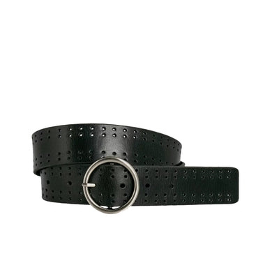 Botanical Belt - Black | Shop Loop Leather Co, belts online at IKON NZ