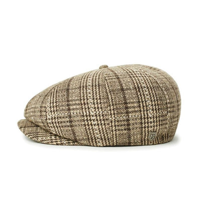 Brixton Brood Snap Cap - Taupe/Brown shop online or in store at IKON