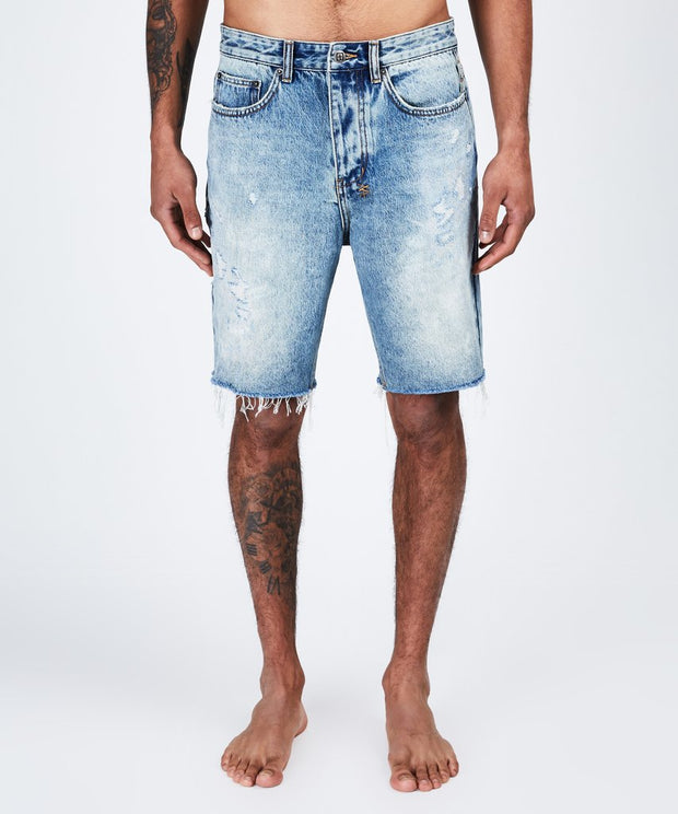 Ksubi Mens Wolf Short Rekonize Ruins - Denim