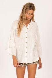 Cabana Woven Shirt - Casa Blanca | Amuse Society at IKON Arrowtown NZ