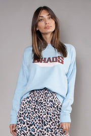 The Slouchy Sweat - Light Blue/Chaos Logo
