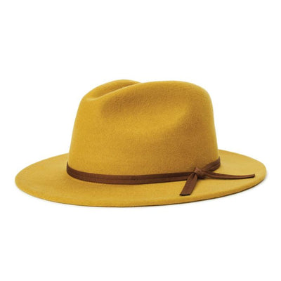 Brixton Coleman Fedora - Maize shop online or in store at IKON