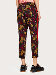 Womens Contrast Trousers - Combo C