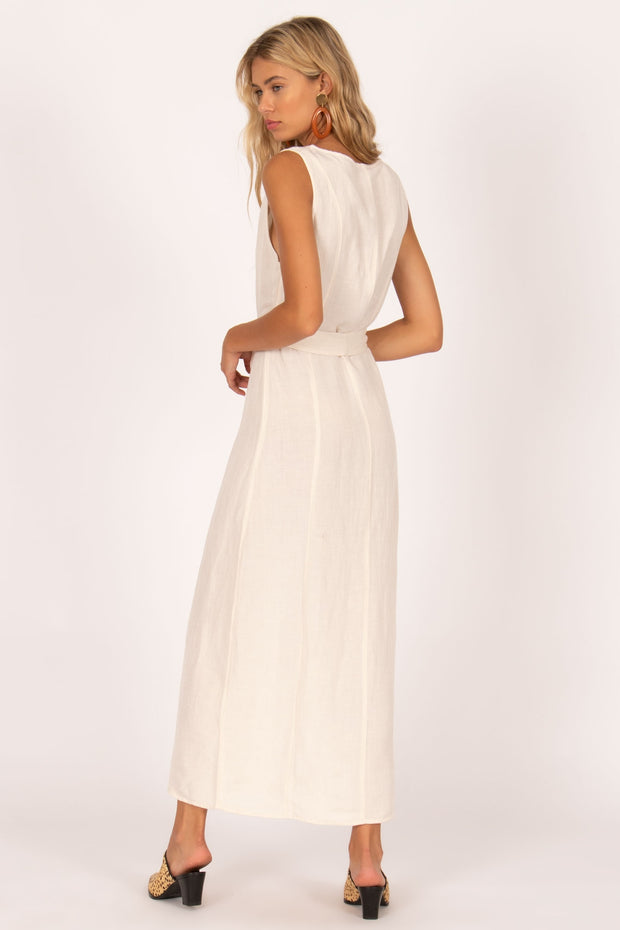 Driftwood Sleeveless Woven Dress - Casa Blanca