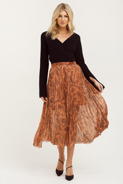 Desert Lily Pleated Skirt Light Orange | Shop Cooper St at IKON NZ